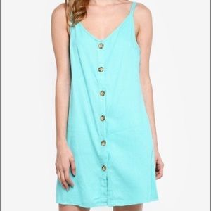 Cotton on button up margot slip midi beach dress